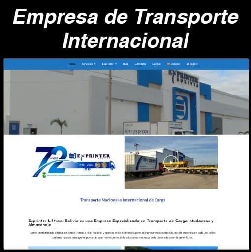 Web Empresa de Transporte
