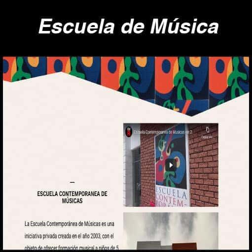 Web Escuela de Música