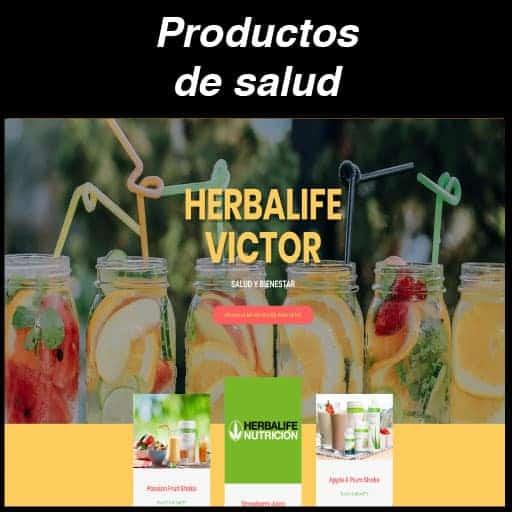 Web Productos de Salud